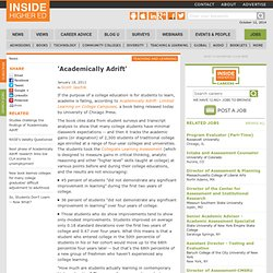 'Academically Adrift'