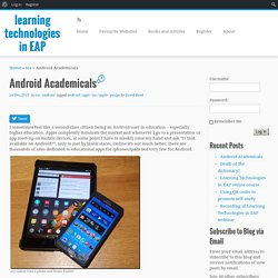 Android Academicals – learning technologies in EAP