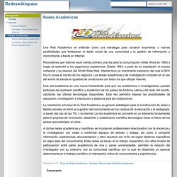 Redes Académicas - Redeswikispace