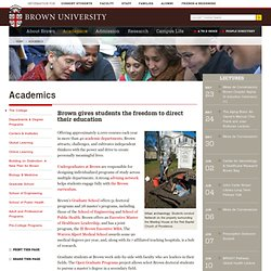 Academics | Brown University