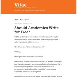 Vitae — A service of The Chronicle of Higher Education