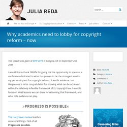 Why academics need to lobby for copyright reform – now