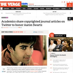 Academics share copyrighted journal articles on Twitter to honor Aaron Swartz