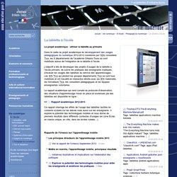 Portail académique:La tablette à l'école