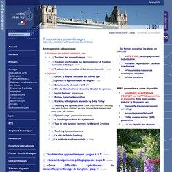 Anglais Orléans-Tours:Troubles des apprentissages