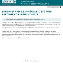 Canopé académie de Besançon : L'enseignant veilleur (2ème partie)