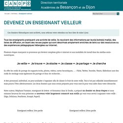Canopé académie de Besançon : Enseignant veilleur