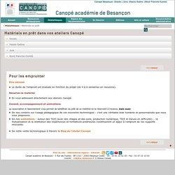 CRDP de l'académie de Besançon : Matériels en prêt