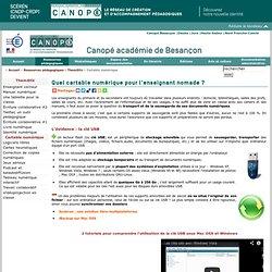 CRDP de Franche-Comté : Cartable numérique de l'enseignant nomade