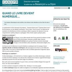 Canopé académie de Besançon : Livre numérique