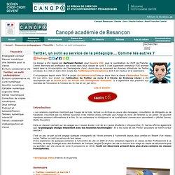 CRDP de l'académie de Besançon : Twitter, un outil pédagogique