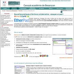 Écriture collaborative - CANOPÉ Besançon