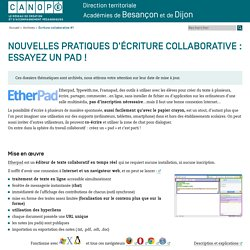 D'autres outils : Etherpad, Typewith.me, Framapad...