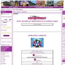 Site d'Anglais de l'Académie de Grenoble - Sites à consulter - Ressources
