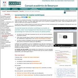 Canopé académie de Besançon : Correction de copies numériques