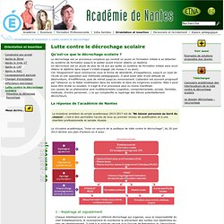 AC-Nantes - Lutte contre le décrochage scolaire