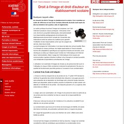Droit à l'image et droit d'auteur en établissement scolaire