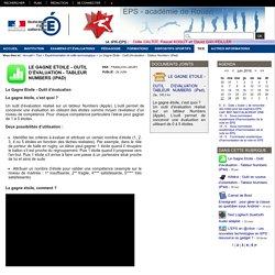 EPS - académie de Rouen - Le Gagne Etoile - Outil d'évaluation - Tableur Numbers (iPad)