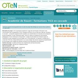 Académie de Rouen : formations TICE en cascade