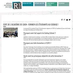 ESPE de l'académie de Caen : former les étudiants au codage !