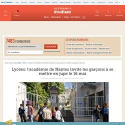 Lycées: l'académie de Nantes invite les garçons à se mettre en jupe le 16 mai