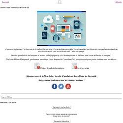 Anglais (Ac.Grenoble) - Utiliser la salle informatique en CO et EE