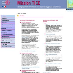 Mission TICE ac. de Grenoble