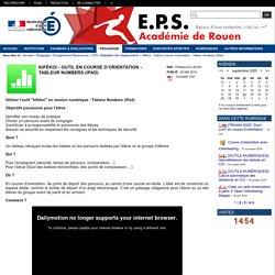 académie de Rouen - Kifékoi - Outil en course d'orientation - Tableur Numbers (iPad)