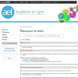 Analyser la fable