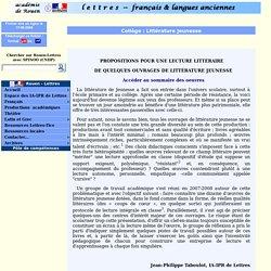 Présentations d'ouvrages de littérature jeunesse (ac-rouen)