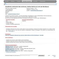 Académie nationale des sciences, belles-lettres et arts