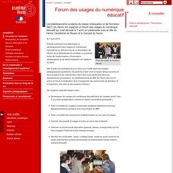 Forum des usages du numérique éducatif