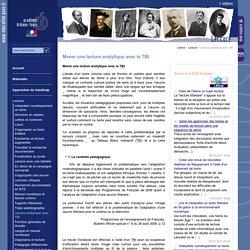 Lettres:Mener une lecture analytique avec le TBI