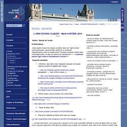 Anglais Orléans-Tours:ECOLE ; SOCIETE