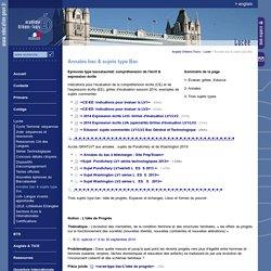 Anglais Orléans-Tours:Annales bac & sujets type Bac