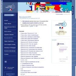 Portail des Langues:FAQ Bac 2013
