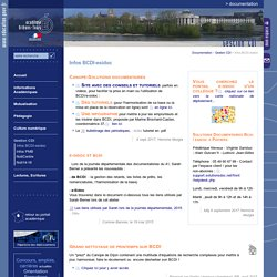 Documentation:Infos BCDI-esidoc