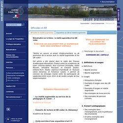 Documentation:QRcodes et AR
