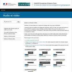 LIVE MOVIE MAKER-Editer un fichier vidéo