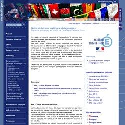 Portail des Langues:Guide de bonnes pratiques