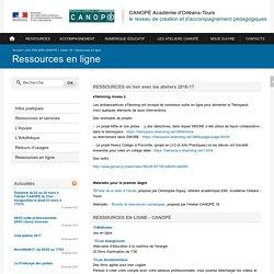CANOPÉ Académie d'Orléans-Tours-Ressources en ligne