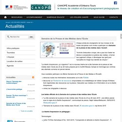 CANOPÉ Académie d'Orléans-Tours-Semaine de la Presse et des Médias dans l'Ecole