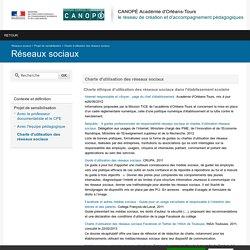 CANOPÉ Académie d'Orléans-Tours-Charte d'utilisation des réseaux sociaux