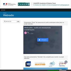 CANOPÉ Académie d'Orléans-Tours-Webradio