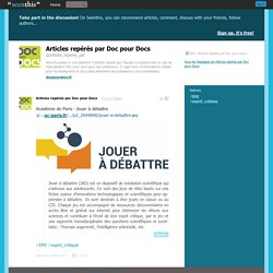 Académie de Paris - Jouer à débattre