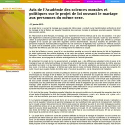 Avis de l'Académie des sciences morales et politiques sur l'énergie nucléaire en France.