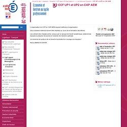 CCF UP1 et UP2 en CAP AEM