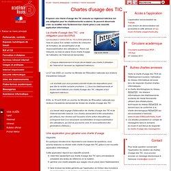 Chartes d'usage des TIC