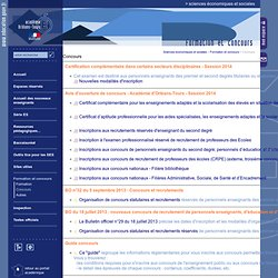 Sciences économiques et sociales:Concours
