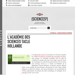 L'Académie des sciences tacle Hollande